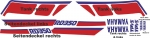 Dekor Decor Satz RD 350 YPVS Typ 1WW weiss/rot/blau decal